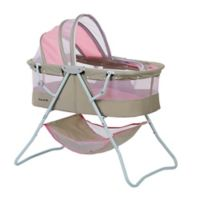 Dream on Me Karly Bassinet in Grey/Pink
