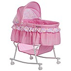 Dream on Me Lacy Portable 2-in-1 Bassinet/Cradle in Pink/White