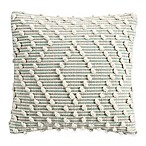 Clifton Woven Knot Square Throw Pillow in Aqua