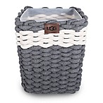 UGG® Sadie Wastebasket in Charcoal/Snow