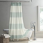 UGG® Napa 72-Inch Square Yarn-Dyed Stripe Shower Curtain in Agave