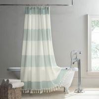 UGG® Napa 78-Inch x 54-Inch Yarn-Dyed Stripe Shower Curtain in Agave
