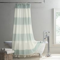UGG® Napa 96-Inch x 72-Inch Yarn-Dyed Stripe Shower Curtain in Agave