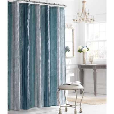Buy Silver Blue Fabric Shower Curtains from Bed Bath & Beyond