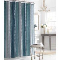 Manor HillR Sierra Sapphire 72 Inch X Fabric Shower Curtain