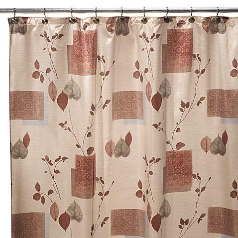 Leaf study 70 inch w x 72 inch l shower curtain bed bath - Bathroom items that start with l ...