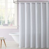 Truly Soft Everyday Gingham Shower Curtain in Grey