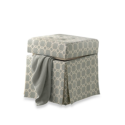 Patterned Storage Vanity Stool