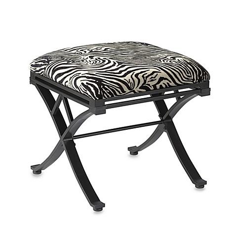Linon Home Zebra Vanity Stool