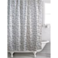 Alexa Leaf Shower Curtain In Cream