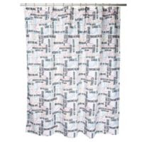 In-Transit Subway Shower Curtain in White