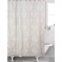 Ettore Jacquard Shower Curtain in Cream