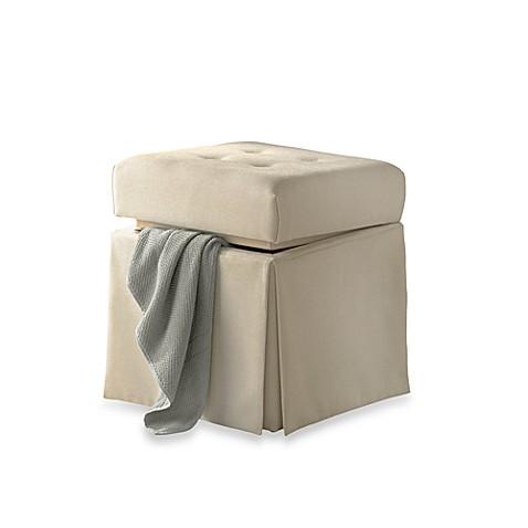 ivory storage vanity stool bed bath beyond. Black Bedroom Furniture Sets. Home Design Ideas