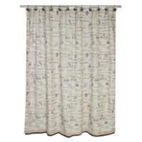 Lafayette Paris Shower Curtain in Beige/Brown