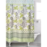 Famous Home® 2-Piece Lindsey Shower Curtain and Liner Set in Lime