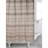 Famous Home® 2-Piece Mesmerize Shower Curtain and Liner Set in Taupe/Cream