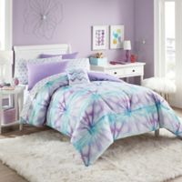 Layla 6-Piece Twin Comforter Set in Purple/Turquoise