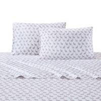 Julissa Printed Llama 4-Piece Full Sheet Set in Grey