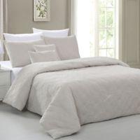 Pacific Coast Textiles Carter Diamond 5-Piece King Comforter Set in Turtledove