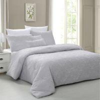 Pacific Coast Textiles Salisbury 5-Piece Queen Comforter Set in Grey