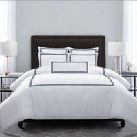 Wamsutta® Hotel Triple Baratta Stitch King Comforter Set in Navy