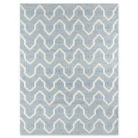Erin Gates Langdon Hand Woven 3-Foot 9-Inch x 6-Foot 9-Inch Area Rug in Blue