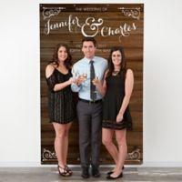 Rustic Wood 58-Inch x 90-Inch Wedding Photo Backdrop