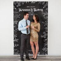 Chalkboard 58-Inch x 90-Inch Wedding Photo Backdrop