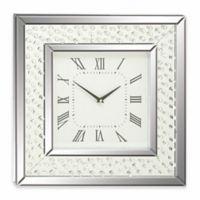 Ridge Road Décor Square Mirrored Jewel Wall Clock