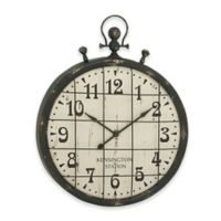 Ridge Road Décor Stopwatch-Style Wall Clock in Distressed Black
