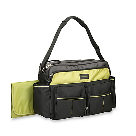 eddie bauer harrington duffle diaper bag in grey bed bath beyond. Black Bedroom Furniture Sets. Home Design Ideas