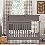 Liz and Roo Buffalo Check 3-Piece Crib Bedding Set in Taupe