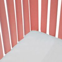 Go Mama Go Designs® 2-Pack Pure Safety Minky Vertical Crib Liners in Coral