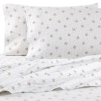 The Seasons Collection® HomeGrown™ Snowflake King Flannel Sheet Set