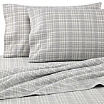 The Seasons Collection® HomeGrown™ Neutral Plaid Full Flannel Sheet Set