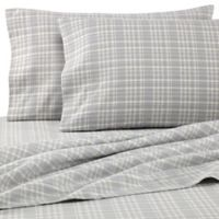 The Seasons Collection® HomeGrown™ Neutral Plaid Queen Flannel Sheet Set