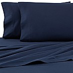 The Seasons Collection® HomeGrown™ Queen Flannel Sheet Set in Navy
