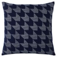 Lacoste Herringbone Square Throw Pillow in Black