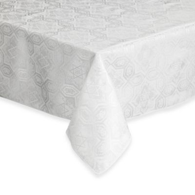 Shalom 52 Inch X 70 Inch Oblong Tablecloth In Ivory