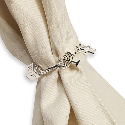 Hanukkah Charm Napkin Ring - Set of Four
