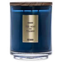 DW Home Sea Salt and Marine Wood-Accent 29 oz. 3-Wick Jar Candle in Blue