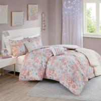 Intelligent Design Charlotte 5-Piece Full/Queen Comforter Set in Blush