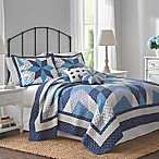 Nostalgia Home™ Nathan Reversible Full/Queen Quilt in Navy/Ivory