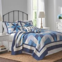 Nostalgia Home™ Nathan Reversible Twin Quilt in Navy/Ivory