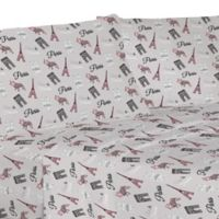 Parisian Puppy Microfiber Twin XL Sheet Set in Pink