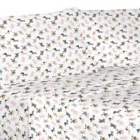 Puppy Love Microfiber Full Sheet Set in White