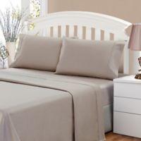 500-Thread-Count Cotton Sateen Standard Pillowcase in Oatmeal