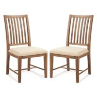 Palmetto Home Select Hardwoods Upholstered Dining Chairs in Brown (Set of 2)
