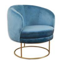 Tov Furniture™ Velvet Upholstered Chair in Blue