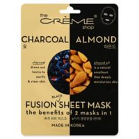 The Crème Shop® 2-in-1 Fusion Black Charcoal and Almond Sheet Mask